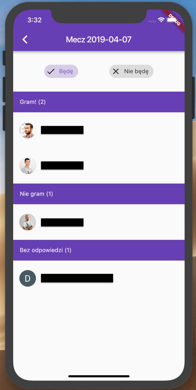 Team gathering app